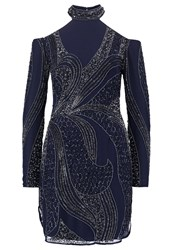 Lace And Beads Mimosa Cocktail Dress Party Dress Midnight Dark Blue