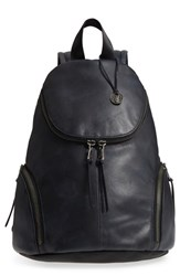 John Varvatos Collection Brooklyn Suede Backpack Blue Midnight