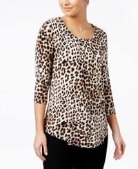 Jm Collection Printed Top Only At Macy's Zoo Leopard