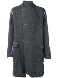 Transit Double Breasted Coat Men Linen Flax Xl Grey