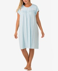 Eileen West Plus Size Lace Trimmed Printed Nightgown Sea Life
