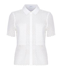 Reiss Lily Lace Shirt Female White