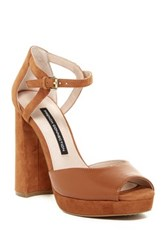French Connection Dita Platform Sandal Brown