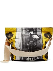 Jw Anderson X Gilbert And George Print Canvas Bag Black Yellow