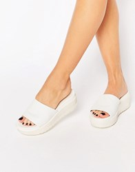 Aldo Low Wedge Sliders White