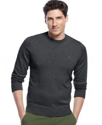 Tommy Hilfiger Signature Solid Crew Neck Sweater Asphalt Heather