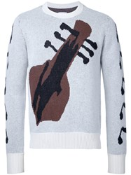 The Soloist Guitar Intarsia Jumper Grey