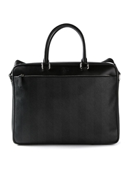 Fendi Striped Tote Black