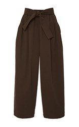 Tome Chocolate Cotton Twill Karate Pants Brown