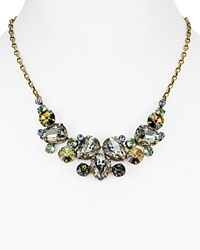 Sorrelli Swarovski Crystal Statement Necklace 16 Multi Gold