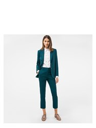 Paul Smith A Suit To Travel In Women's Dark Green Two Button Wool Blazer Blue
