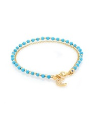 Astley Clarke Biography Diamond And Turquoise Moon Beaded Friendship Bracelet Gold Turquoise