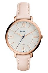 Fossil 'Jacqueline' Leather Strap Watch 36Mm