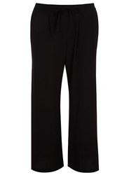 Evans Plus Size Black Crepe Wide Leg Trousers
