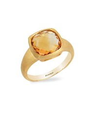 Effy Sunset Citrine And 14K Yellow Gold Ring Orange