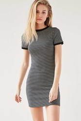Bdg Striped Bodycon Tee Dress Black And White