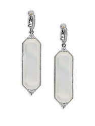Judith Ripka Vogue Elongated Drop Earrings Silver