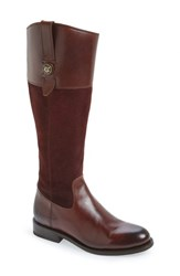 Frye Women's 'Jayden Button' Tall Boot Redwood Oiled Suede