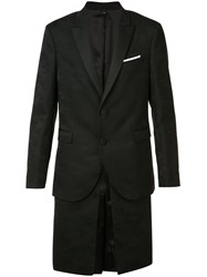 Neil Barrett Layered Camouflage Blazer Black