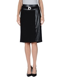 Mariella Rosati Knee Length Skirts Black