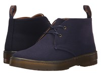 Dr. Martens Daytona Desert Boot Navy Overdyed Twill Canvas Women's Lace Up Boots Black