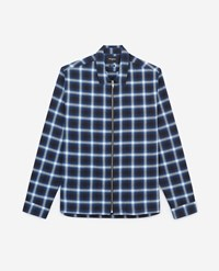 The Kooples Blue Cotton Loose Check Shirt