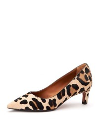Aquatalia By Marvin K Marianna Pointed Fur Pumps Leopard