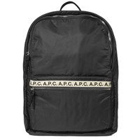 A.P.C. Sally Tape Logo Backpack Black