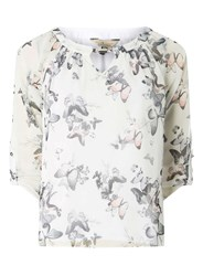 Dorothy Perkins Billie And Blossom White Butterfly Print Blouse