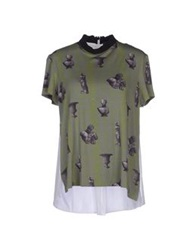 Antipodium T Shirts Military Green
