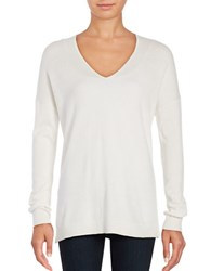 Lord And Taylor Mini Cable Knit Top White