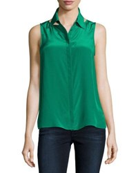 Bailey 44 For Sure Button Front Sleeveless Shirt Green