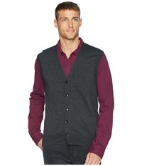 Perry Ellis Cotton Modal Knit Sweater Vest Charcoal Heather Gray