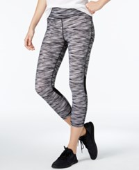 Tommy Hilfiger Sport Space Dyed Cropped Leggings Only At Macy's Black Combo