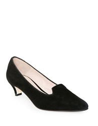 Patricia Green Alexa Slip On Suede Pumps Black