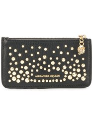 Alexander Mcqueen Zippered Card Holder Wallet Black
