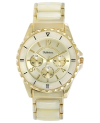 Style And Co. Watch Women's Gold Tone Plastic Bracelet 48Mm Sc1342
