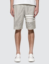 Thom Browne Athletic Mesh Track Shorts Grey