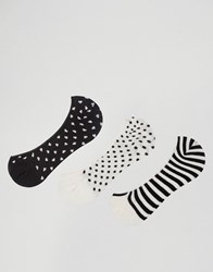 Pull And Bear 3 Pack Invisible Liner Socks Black