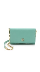 Tory Burch Robinson Cross Body Wallet Mint