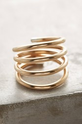 Anthropologie Tipped Coil Ring Gold