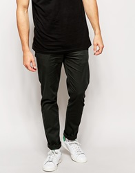Asos Stretch Slim Chinos Darkgreen