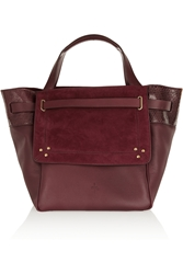 Jerome Dreyfuss Vladimir Snake Trimmed Leather And Suede Tote