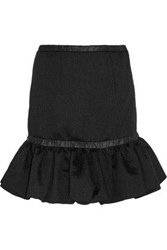 Christopher Kane Crinkled Satin Mini Skirt Black