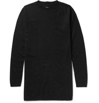 Rick Owens Oversized Boiled Cashmere Sweater Black