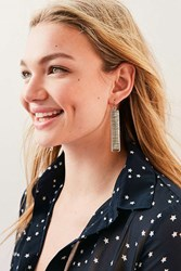 Urban Outfitters Piper Wrapped Drop Earring Silver