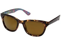 Lilly Pulitzer Maddie Polarized Dark Tortoise Playa Hermosa Inside Temples Polarized Gold Flash Polarized Fashion Sunglasses Brown