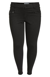 Wit And Wisdom Ab Solution Skinny Ponte Pants Charcoal Pin Stripe
