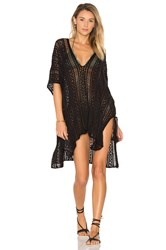 Goddis Up All Night Poncho Black