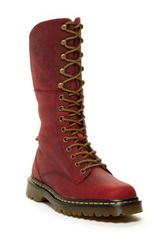 Dr. Martens Aleina Convertible Shaft Combat Boot Red